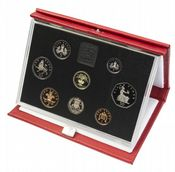 1990 Proof Set Red Leather deluxe